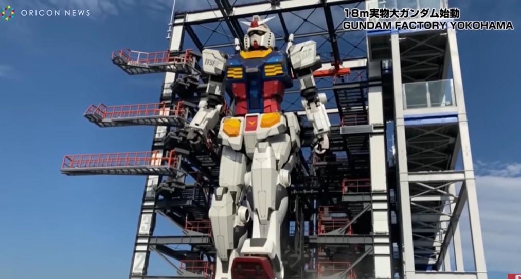 В Японии построили гандама в натуральную величину/ Скриншот с видео