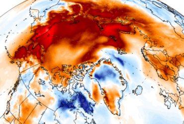 The Independent: температура в Арктиці зростає, теплове поле майже вдвічі перевищило розмір США (карта)