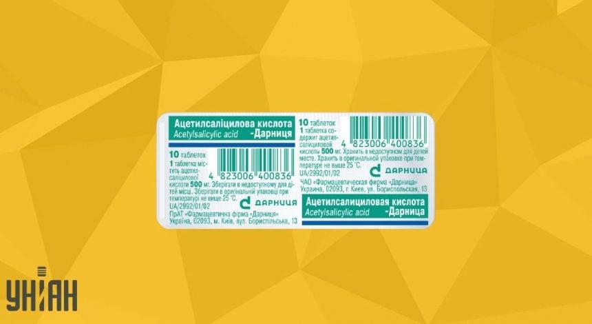 Ацетиловая кислота фото упаковки