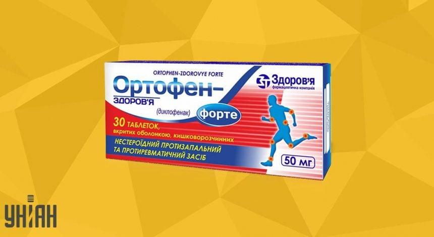 Ортофен Форте фото упаковки