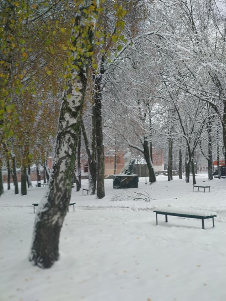 До Конотопа пришла зима / фото Yuliya Lykianova, Facebook