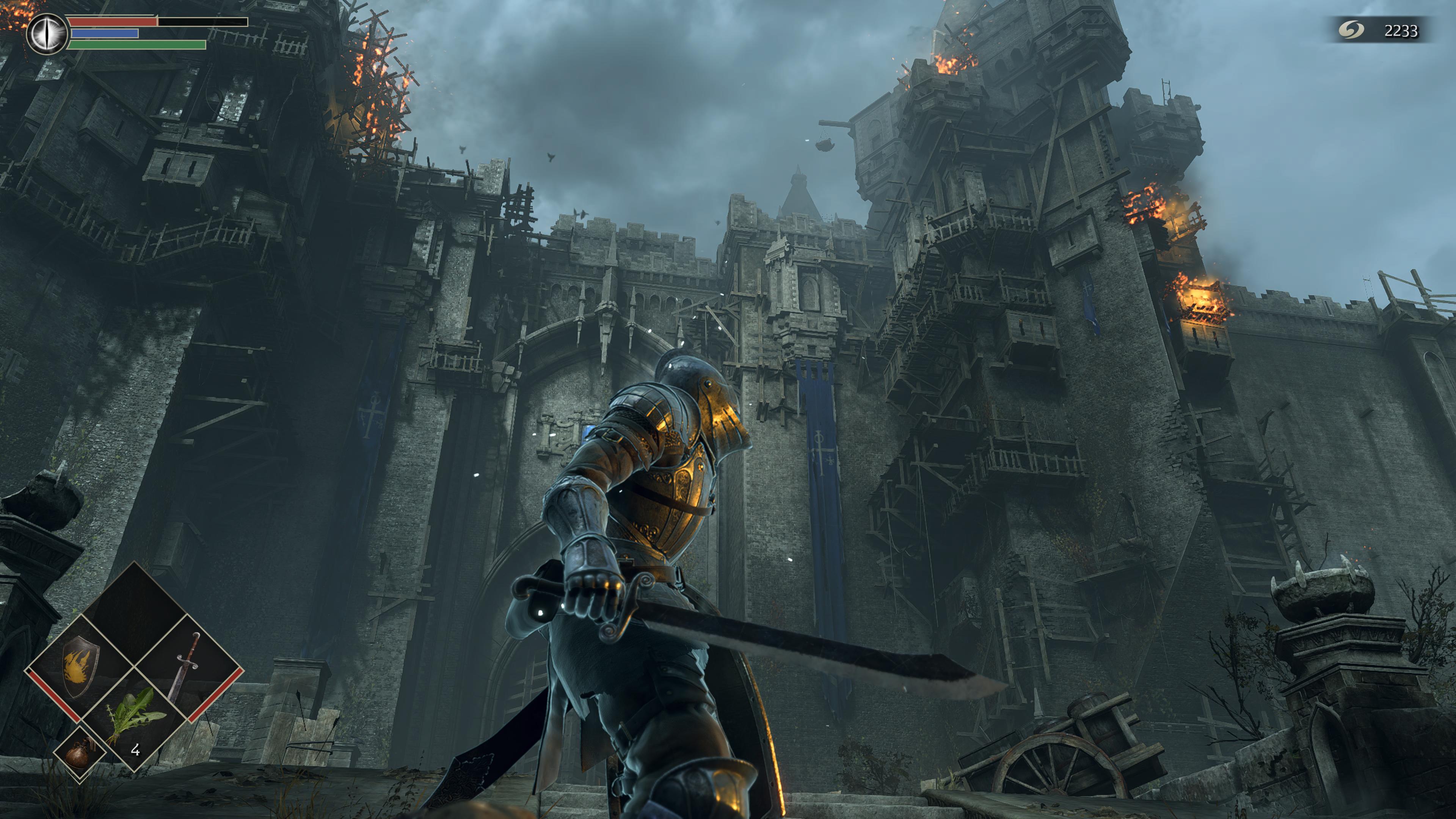 В ремейке Demon's Souls очень реалистично ощущаются удары мечао каменную стену /скриншот