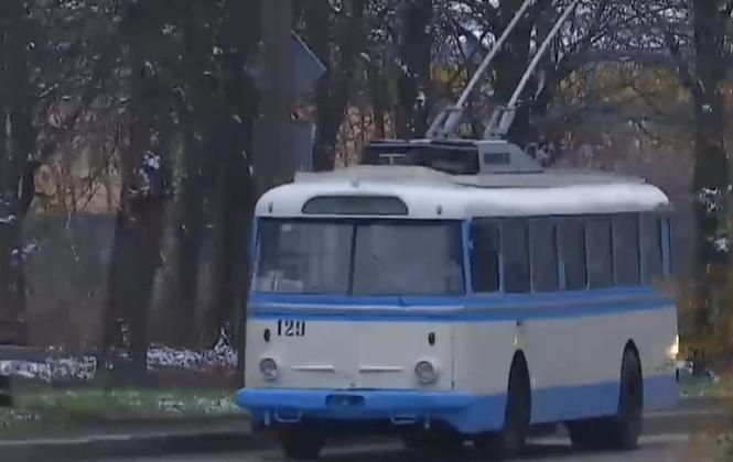 Именно этот троллейбус 60 лет назад открыл движение в Ровно/ Скриншот ТСН.ua
