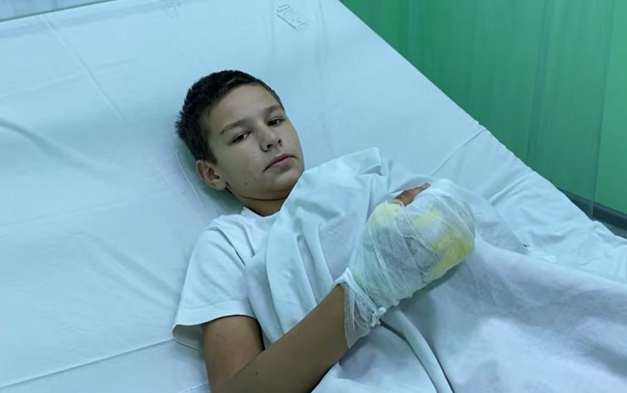 Мальчика привезли на лечение в Запорожье \ facebook.com/people/Злата-Некрасова