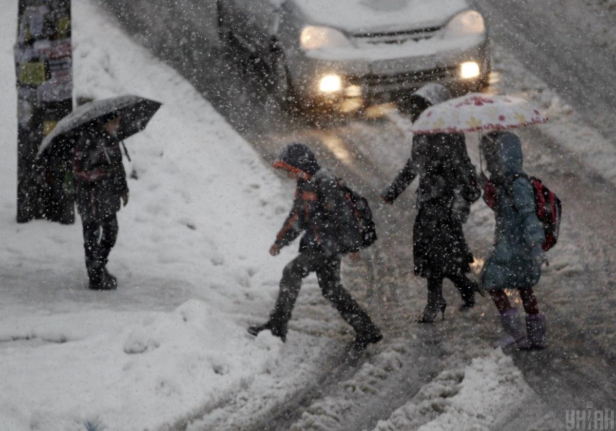 Пробки в Киеве 30 декабря / фото УНИАН