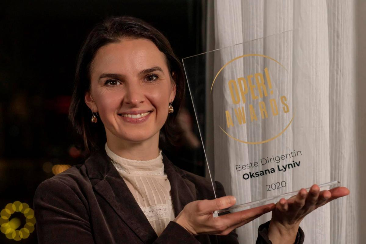 Оксана Лынив стала лучшей диригенткойв Германии \ фото facebook.com/oksana.lyniv