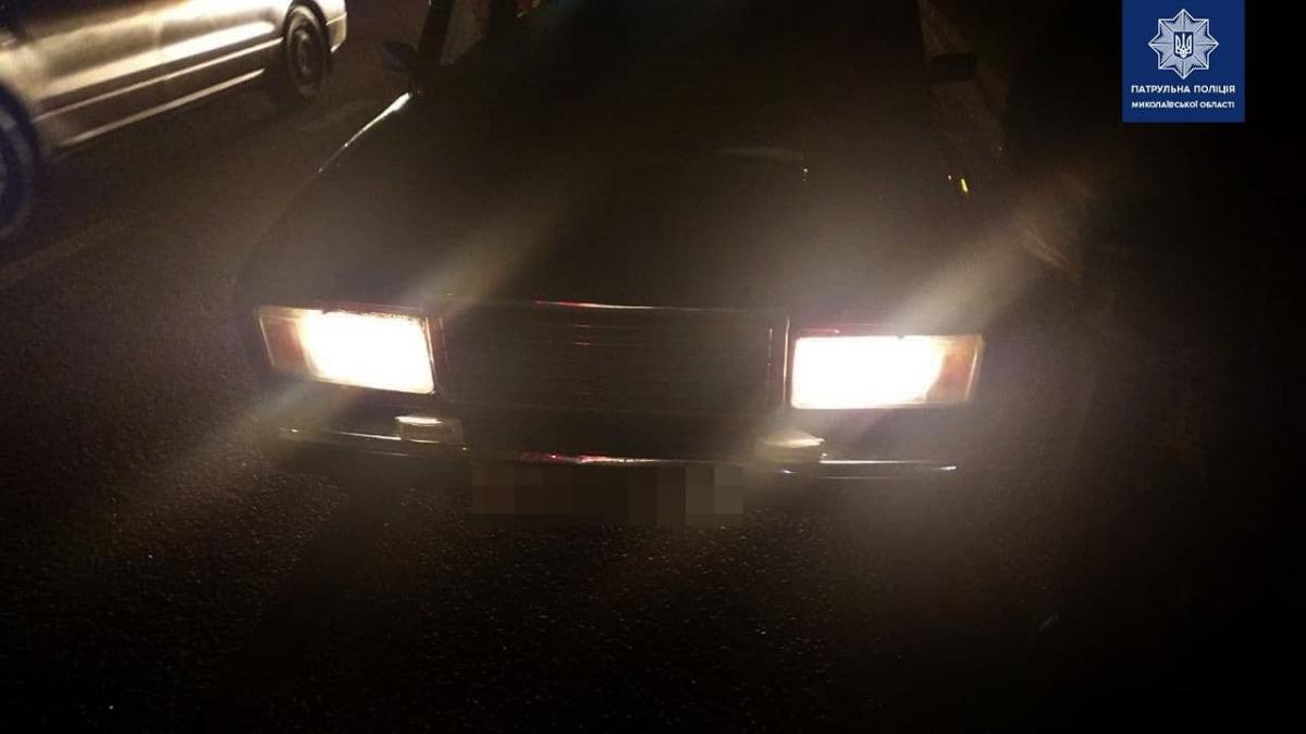 В Николаеве водитель сбил подростка и пытался скрыться / Патрульная полиция Николаевской области