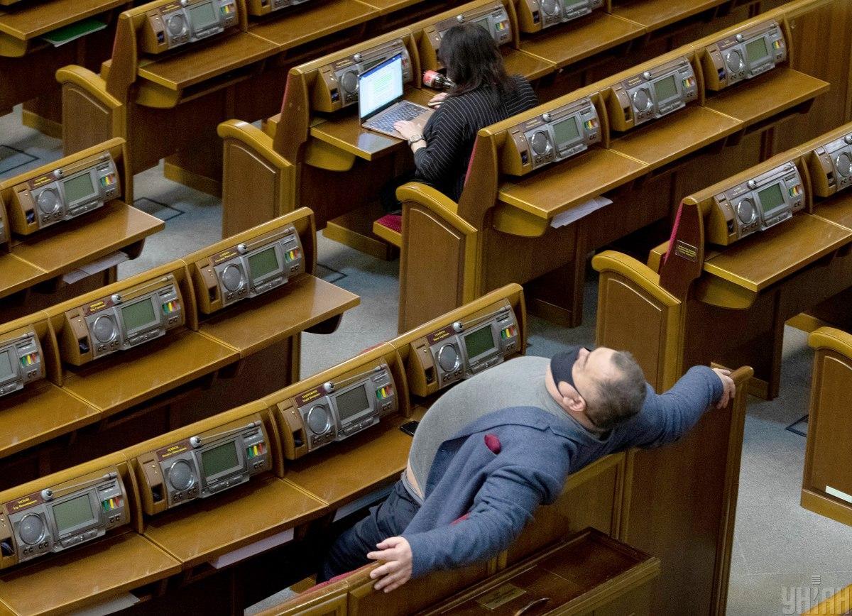 Большинство депутатов не пришли на заседание Рады / фото УНИАН, Александр Кузьмин