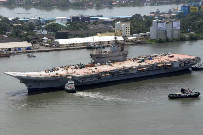"""Индия планирует ходовые испытания нового авианосца """"Викрант""""/ Indian Navy"""