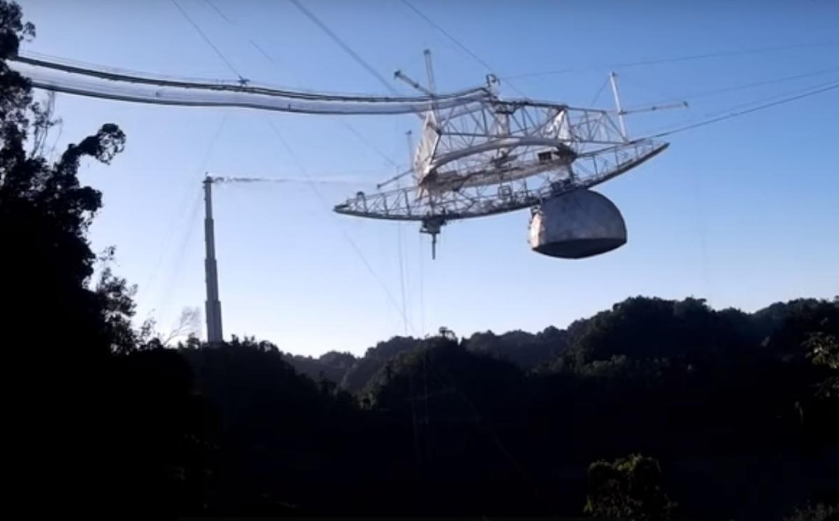 Телескоп з серпня перебував в аварійному стані / скріншот з відео