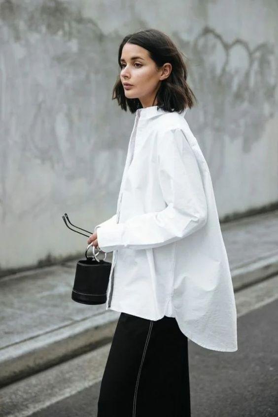 Белая рубашка / фото pinterest.com