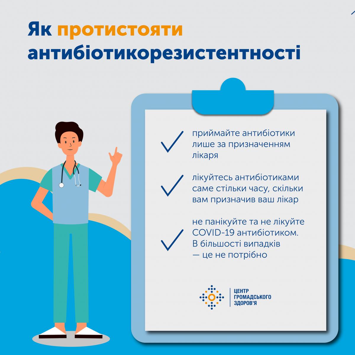 Три основных правила лечения антибиотиками / фото Facebook Центра общественного здоровья