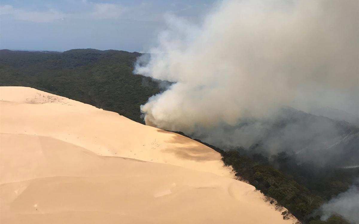 На острове Фрейзер вспыхнули лесные пожары / фото Reuters