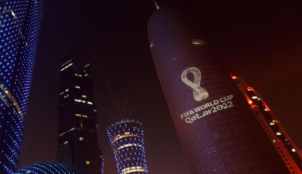 Лого ЧМ-2022 в Дохе / фото REUTERS