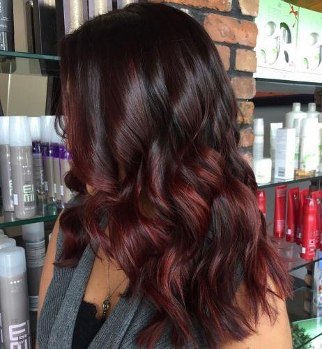 Вишня в шоколаде цвет волос / фото pinterest.com