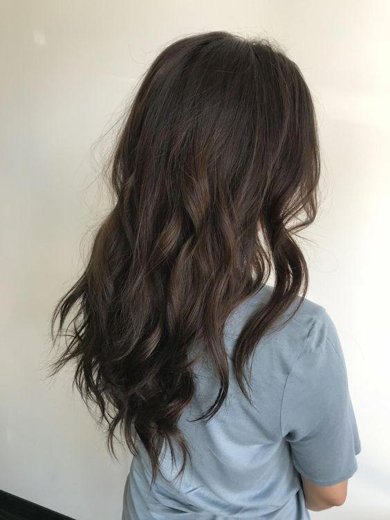 Цвет волос морозный каштан/ фото pinterest.com