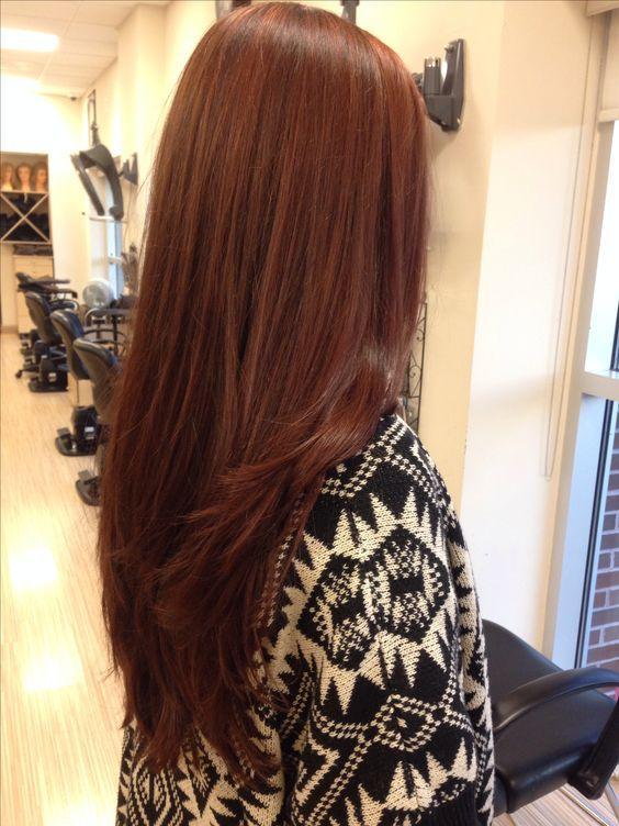 Темно-медный цвет волос / фото pinterest.com