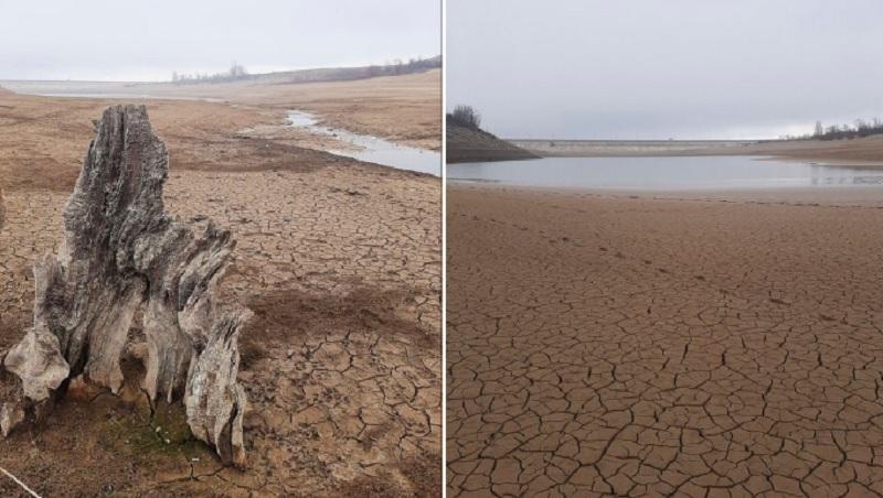 Крым без воды - крымчанка ужаснула фото высохшего водохранилища / twitter.com/KrimRt