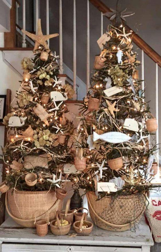 Как украсить елку на год Быка / фото pinterest.com