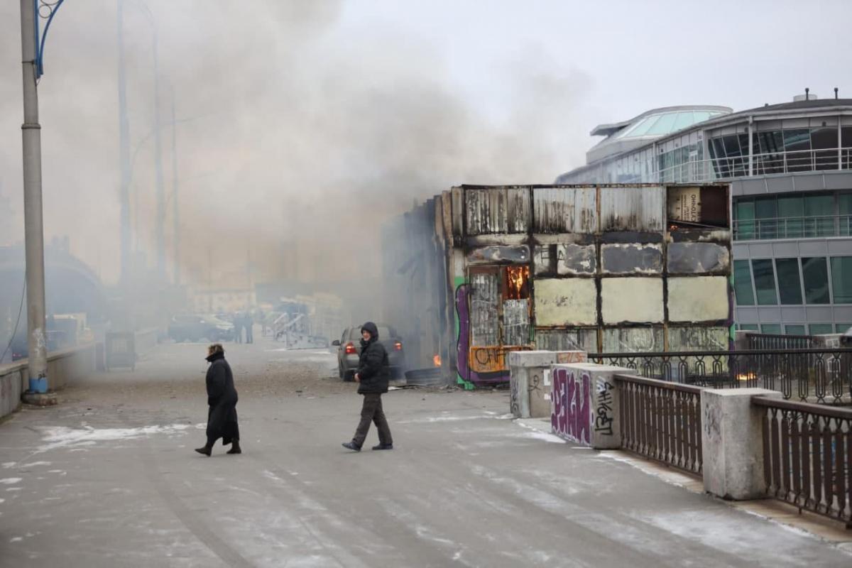 Улицы затянуло дымом / Киев Сейчас