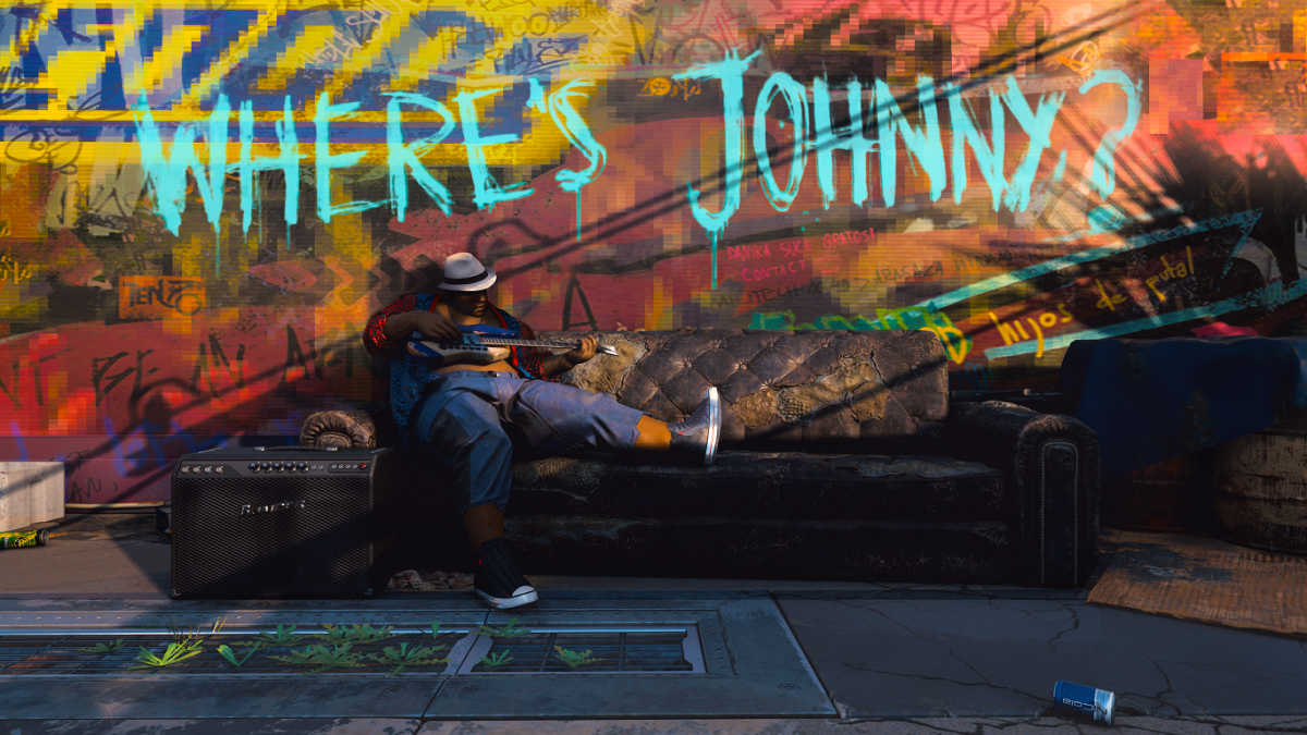 """Граффити """"Где Джонни?"""" / фото CD Projekt RED"""