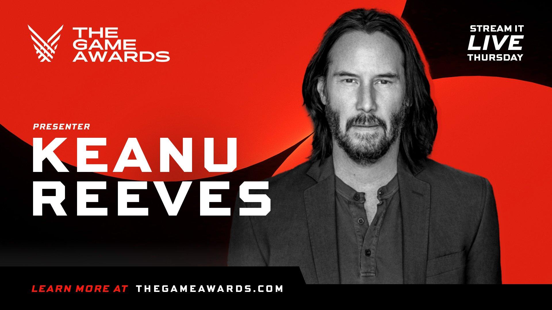 Киану Ривз пополнил список звездных гостей премии / фото thegameawards.com