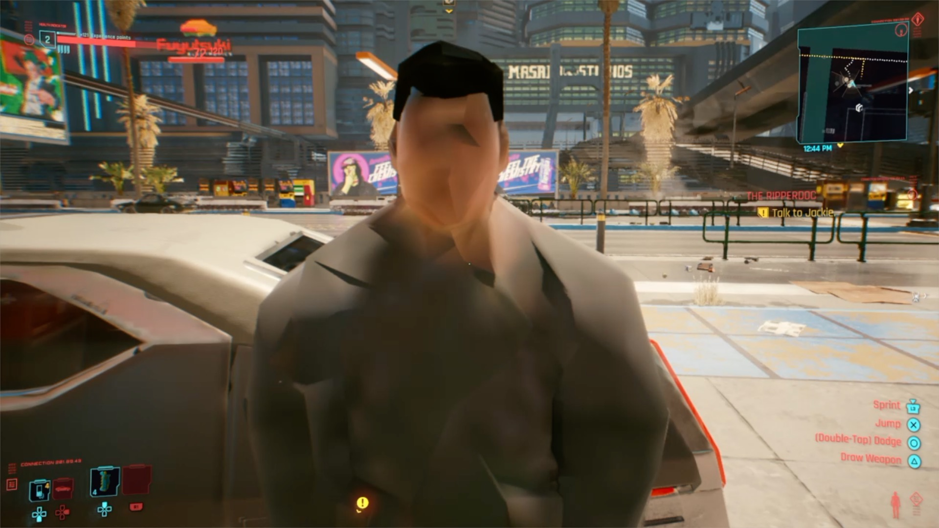 Этот кадр из версии Cyberpunk 2077 для PS4 уже разолетелся в сети / фото twitter.com/MichaelDoesLife