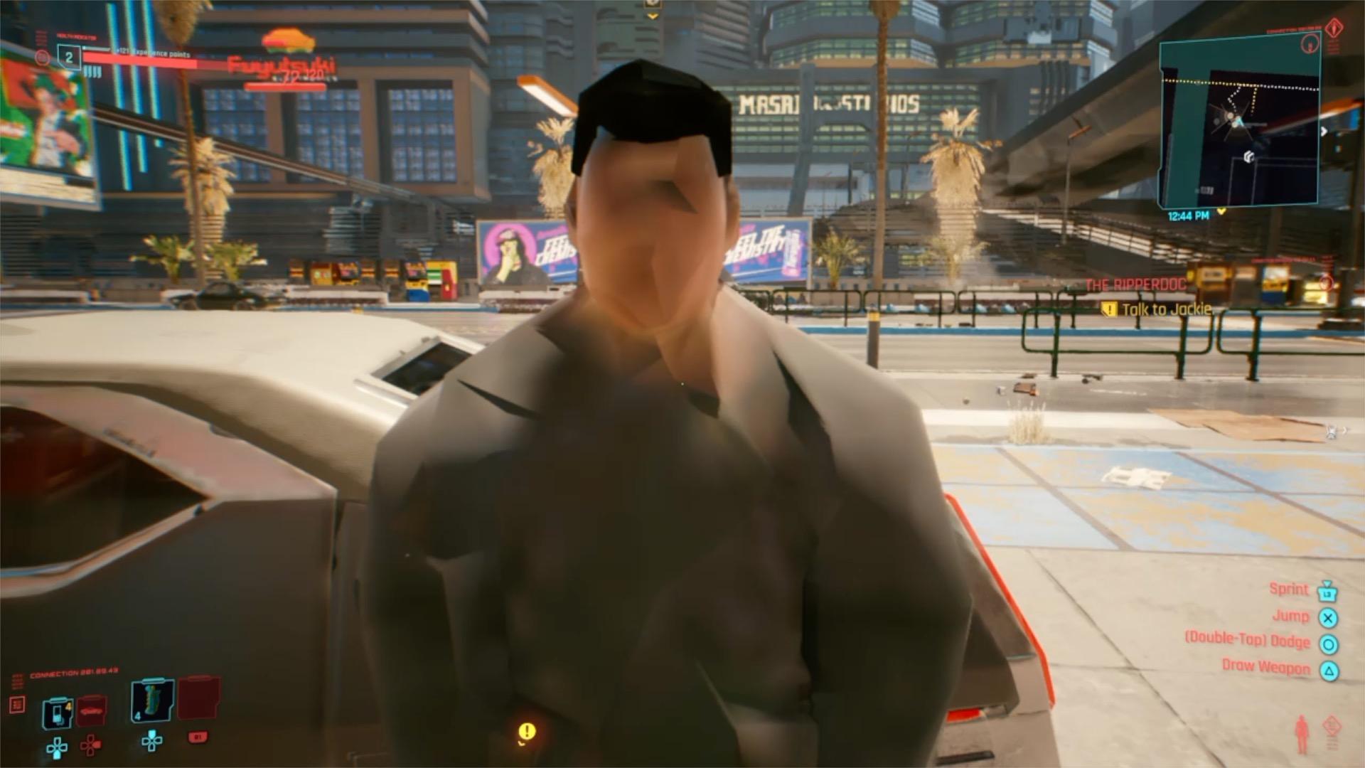 Так иногда выглядит Cyberpunk 2077 на Xbox One и PS4 / фото twitter.com/MichaelDoesLife