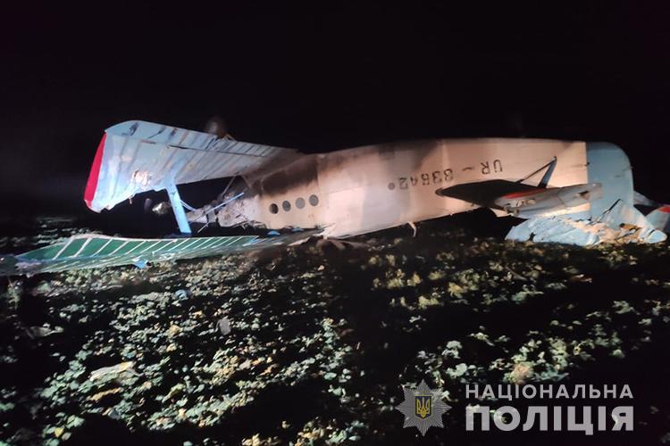 Самолет упал в селе Золотая Слобода / фото полиция