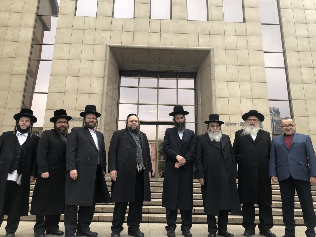 Михаэль Ткач с международной еврейской делегацией