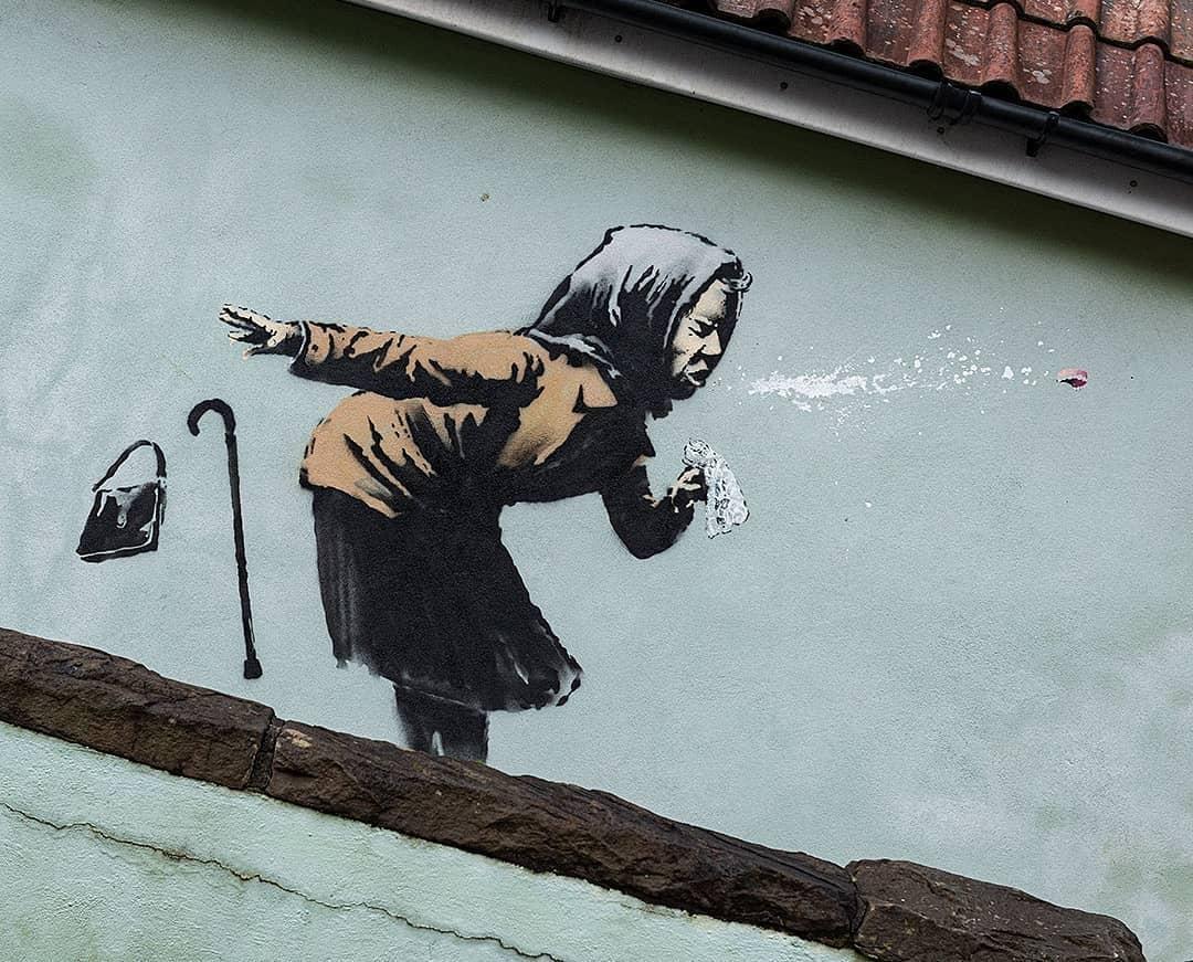 Новое граффити Бэнкси / фото instagram.com/banksy