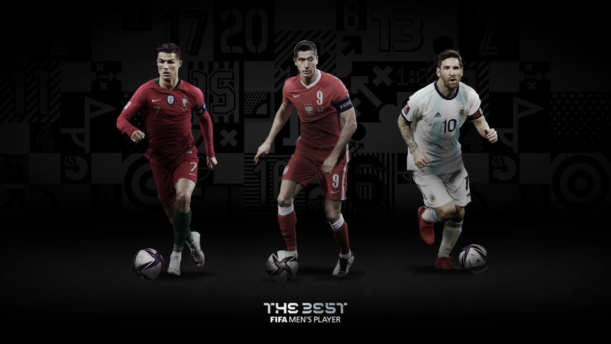 Мессі, Роналду і Левандовскі потрапили у фінальну трійку / фото twitter.com/FIFAcom