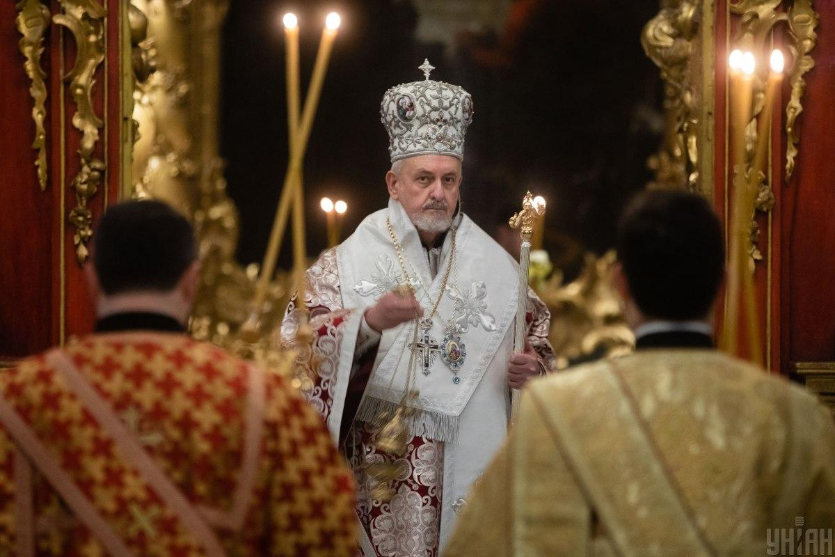 The service was led by Metropolitan of France Emmanuel / Photo from UNIAN, by Viktor Kovalchuk