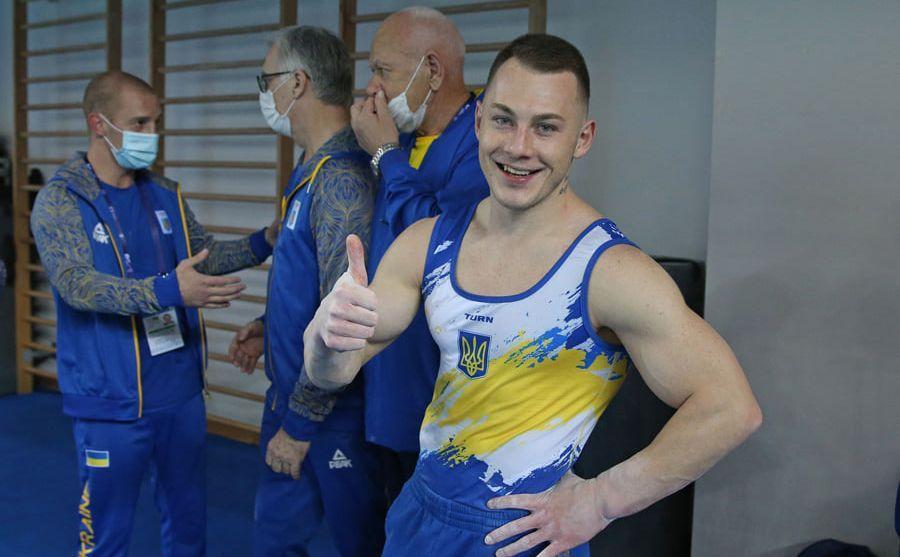 Radivilov has got a gold and a bronze medal / Photo fromEuropean Gymnastics / Th.Schreyer