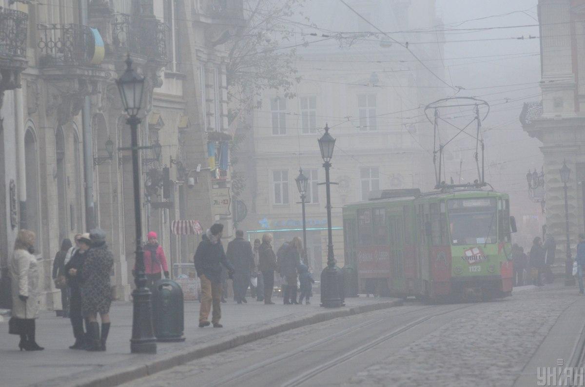 Регион окутал густой туман / фото УНИАН