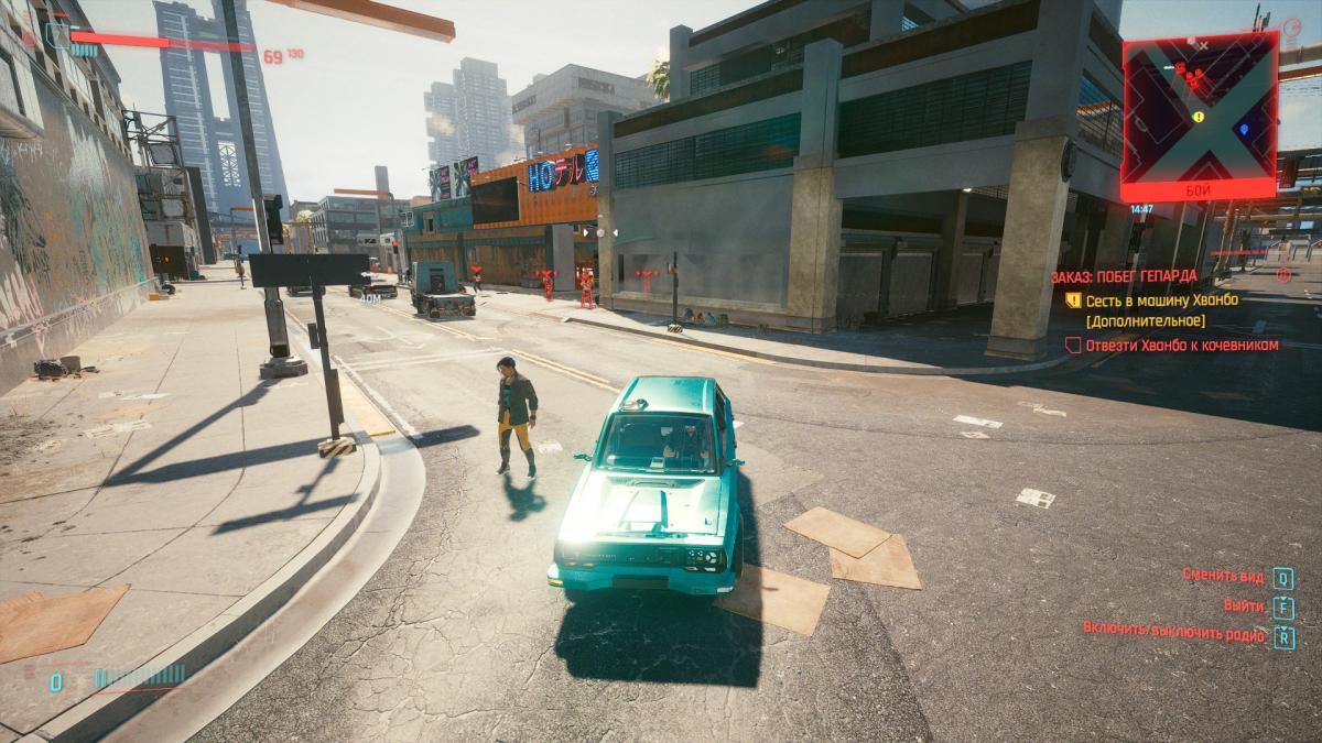 А вот квестовый NPC, который упорно не хотел заходить в машину и стоял себе под пулями / скриншот