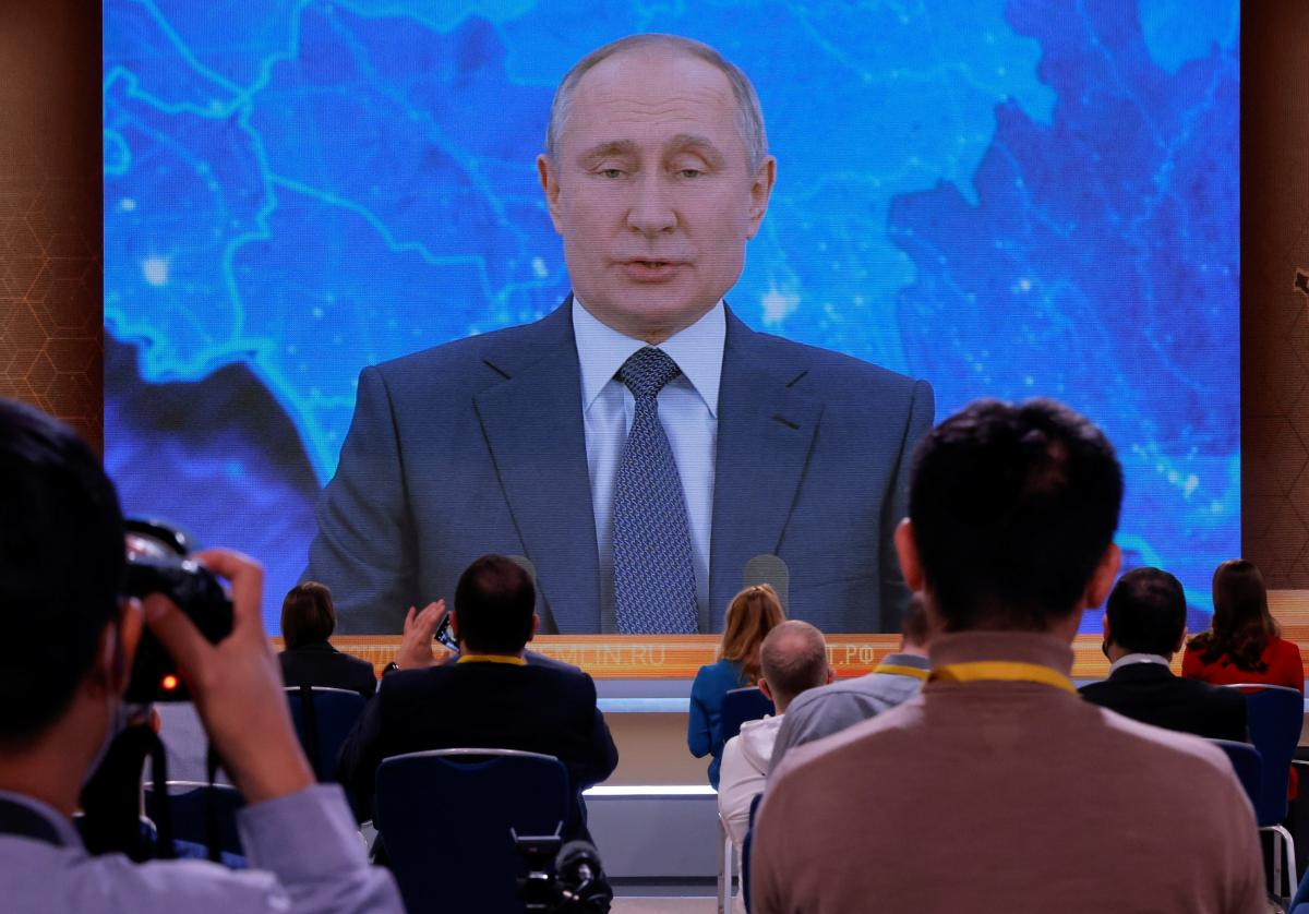 Пресс-конференция Путина / фото REUTERS