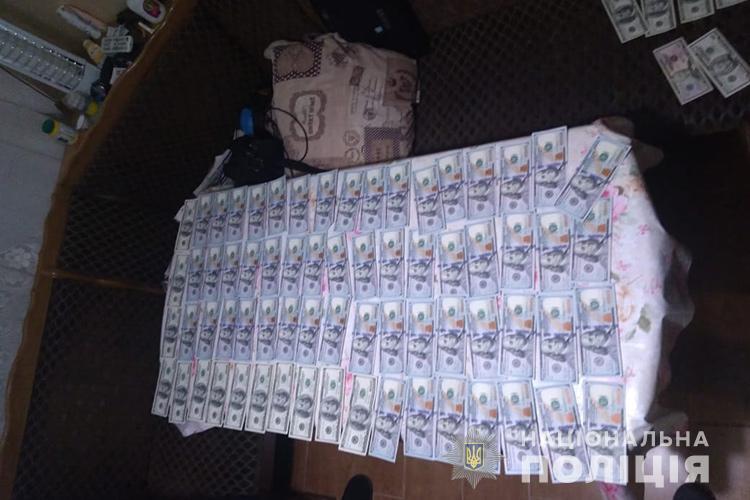 Задержанный заверил, что приобрел фальшивки у неизвестного лица / фото Нацполиция