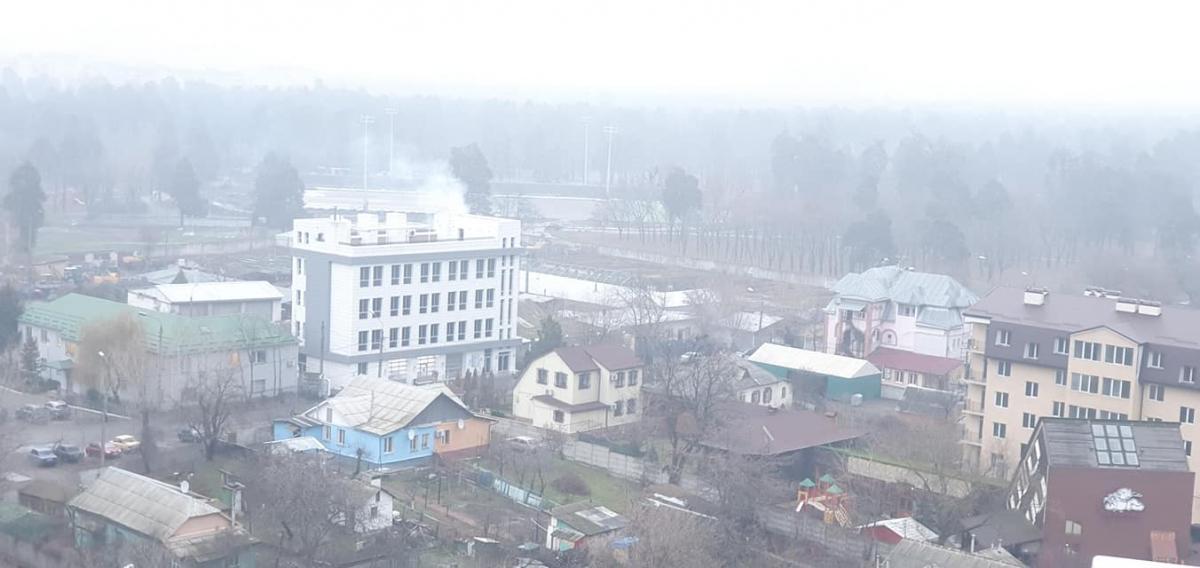 В воздухе двух районов Киеве ощущаетсязапах дыма / фото Алексей Кот Facebook