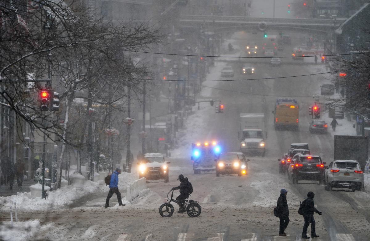 Ситуація на дорогах столиці в понеділок вранці / REUTERS