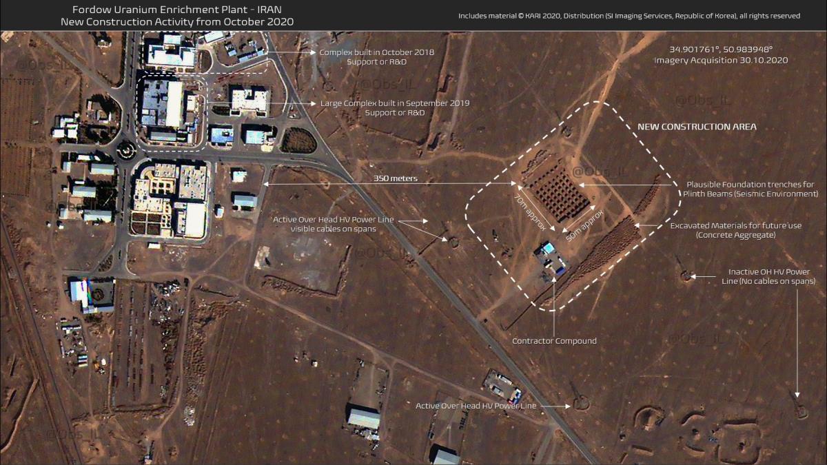 Тайный ядерный объект Ирана / фото twitter.com/Obs_IL