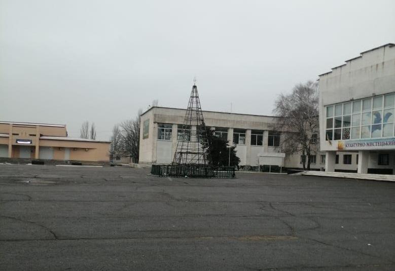 Новости Херсонщины - во время открытия сгорела новогодняя елка в Чаплинке - реакция людей / hr.npu.gov.ua