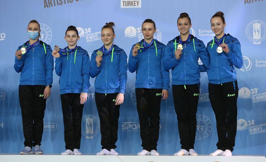 Українські гімнастки - чемпіонки Європи / facebook.com/EuropeanGymnastics