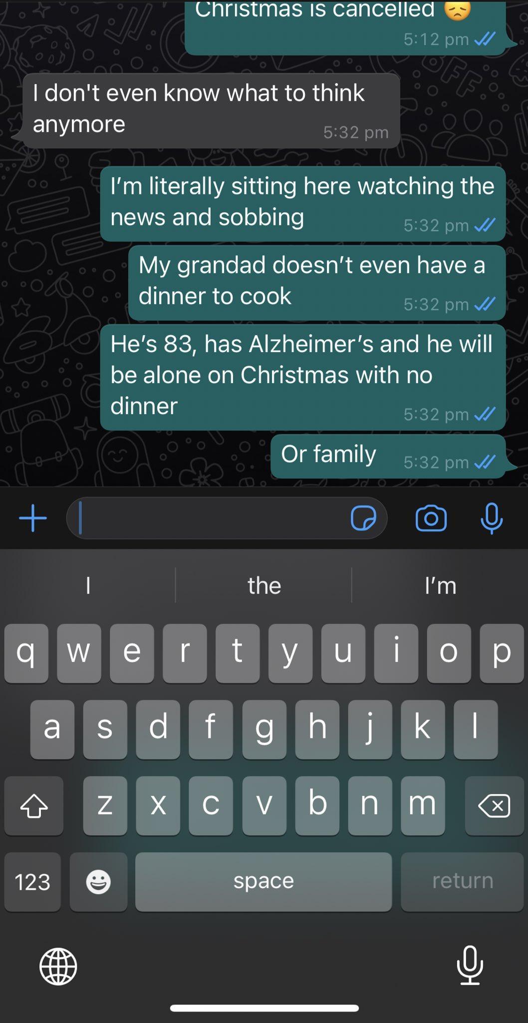 Пользователь жалуется, что не сможет навестить на Рождество свою бабушку с синдромом Альцгеймера/ Twitter