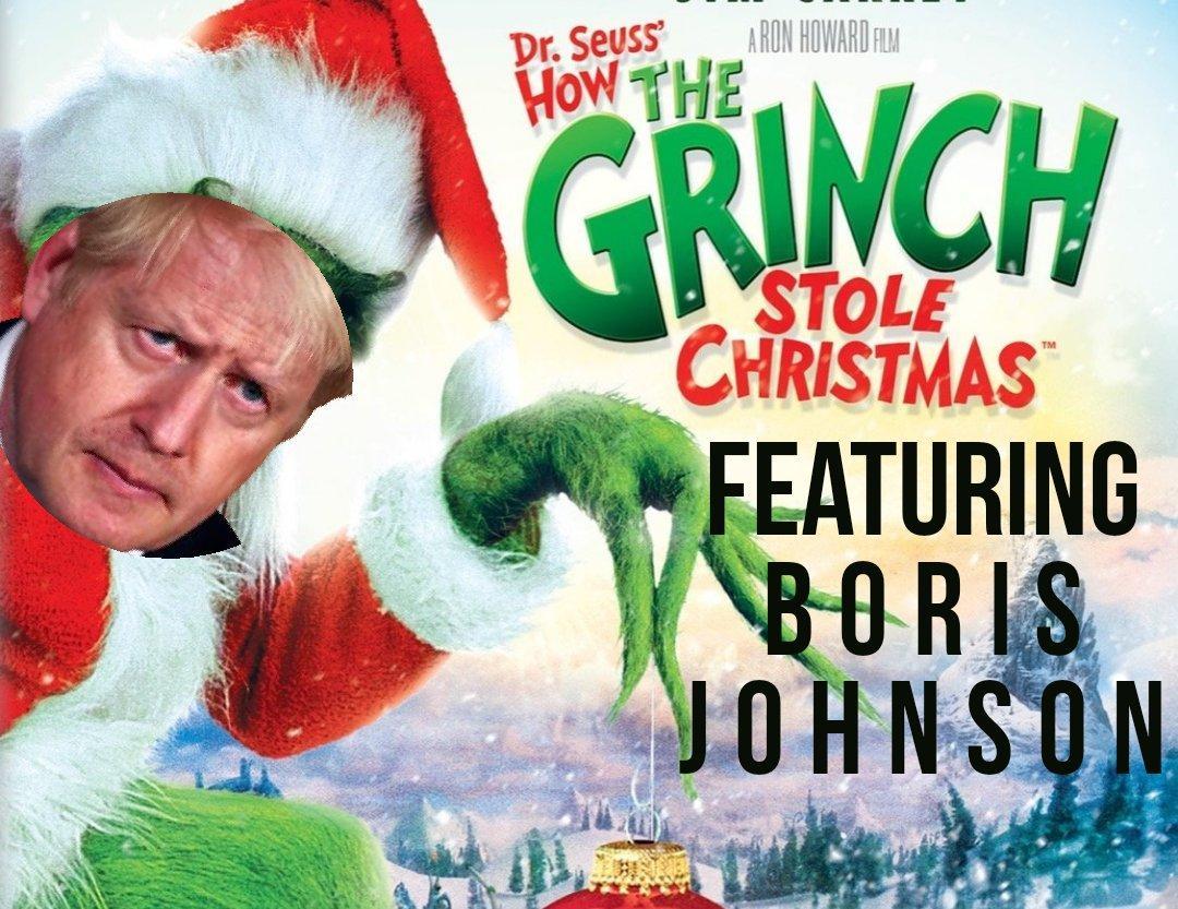 Борис Джонсон в образе Гринча/ Twitter