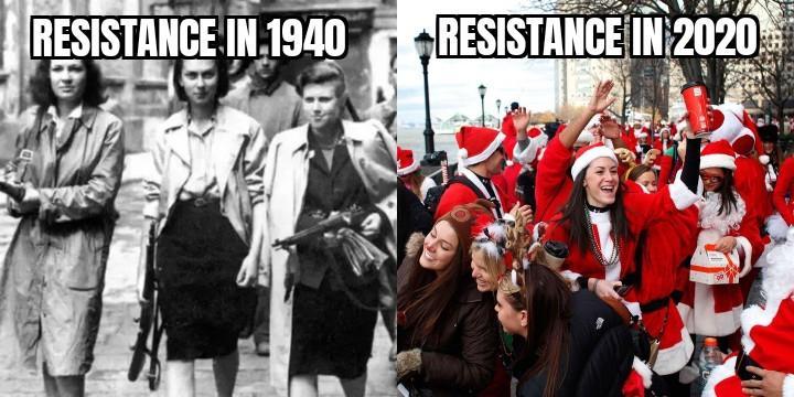 Сопротивление в 1940 - Сопротивление в 2020/ Twitter