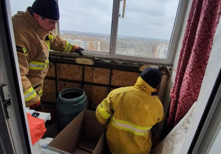 На балконе в квартире нашли более 500 летучих мышей / фото facebook.com/MNS.GOV.UA