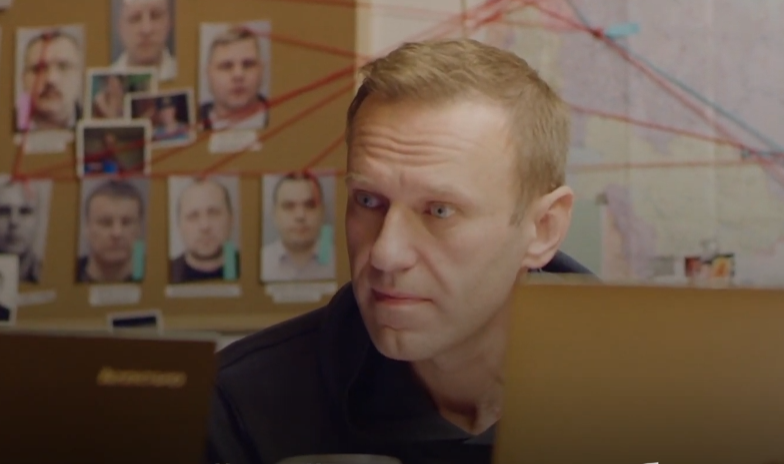 Навального задержали в Москве / скриншот