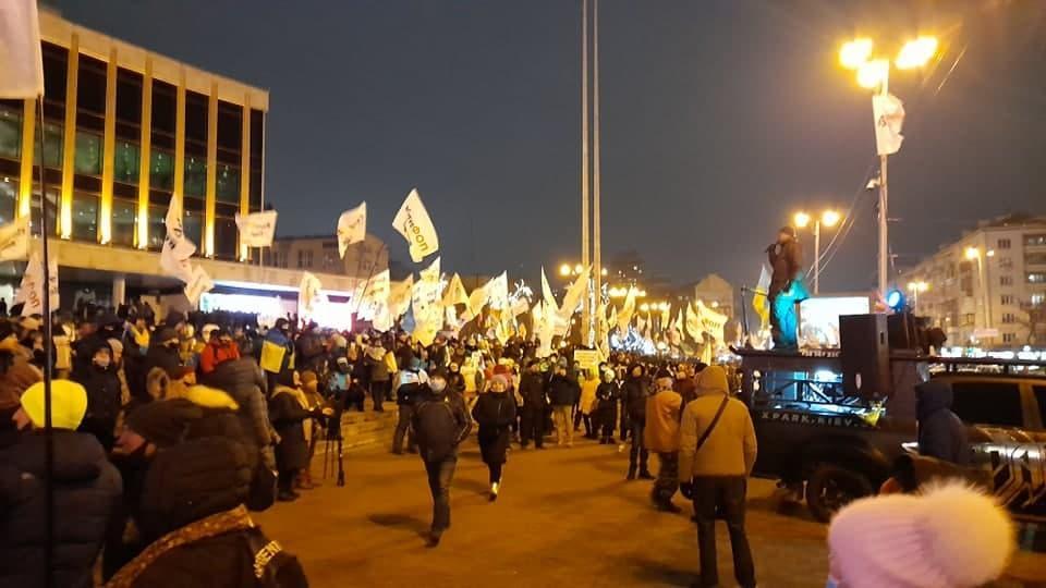 ФОПы пришли под Палац Украина/ УНИАН