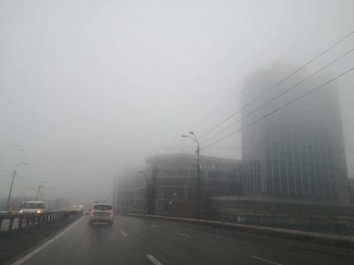 """Видимость на дорогах столицы упала / Фото: """"Страна"""""""